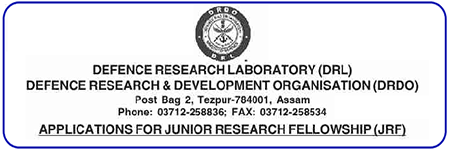 DRDO Tezpur Assam JRF Recruitment 2021