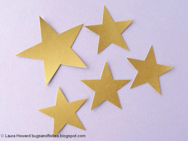 vegan leather star headband tutorial: cutting out the stars