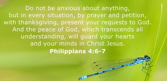 Do not be anxious about anything, but in every situation, by prayer and petition, with thanksgiving, present your requests to God. And the peace of God, which transcends all understanding, will guard your hearts and your minds in Christ Jesus.