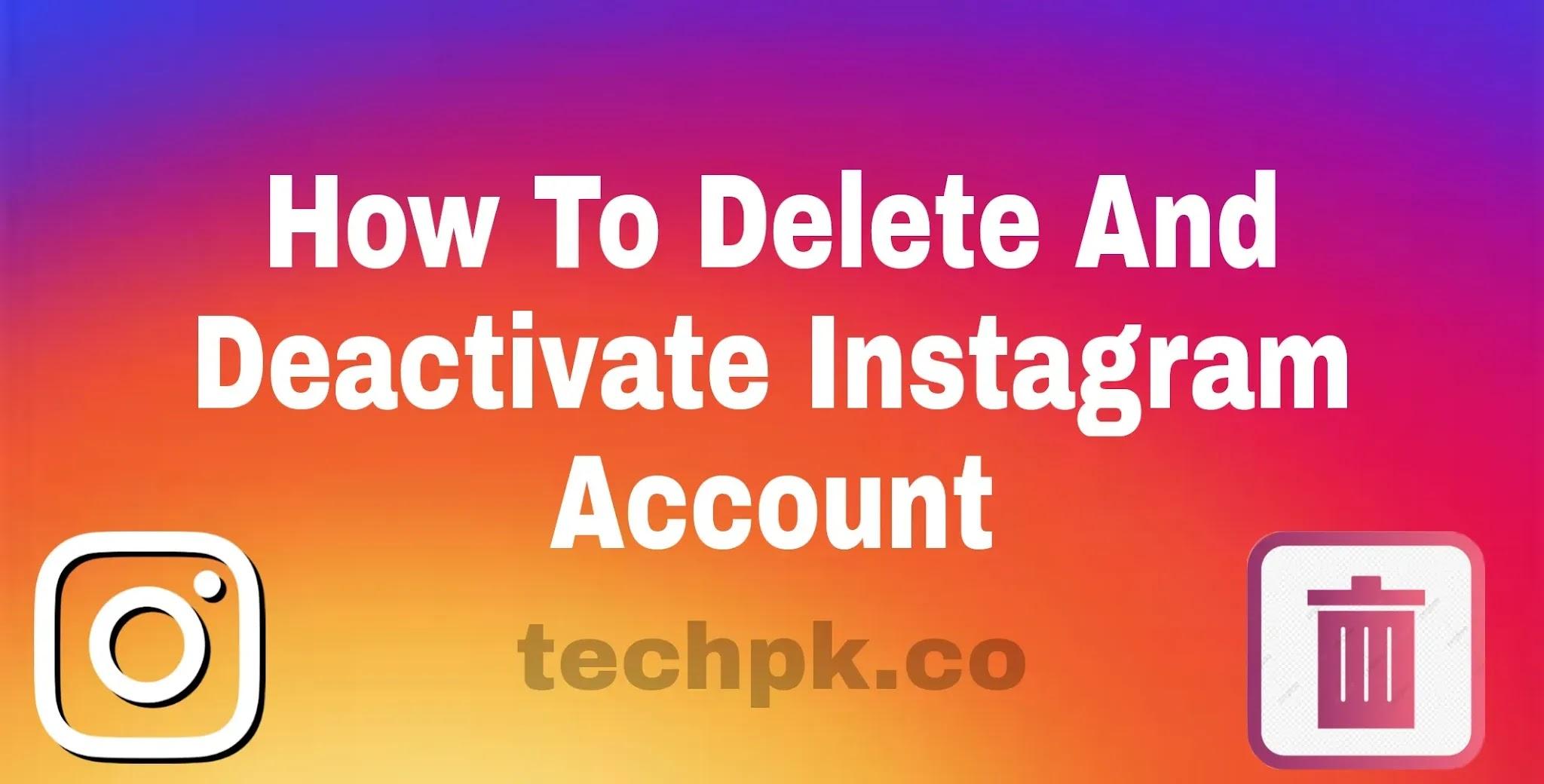 How to Delete Instagram Account 2021