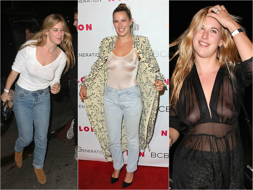 50 Times Celebs Went Braless - Stars who go braless 10
