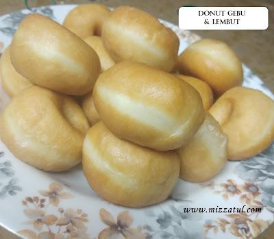 Resipi Donut Gebu dan Lembut