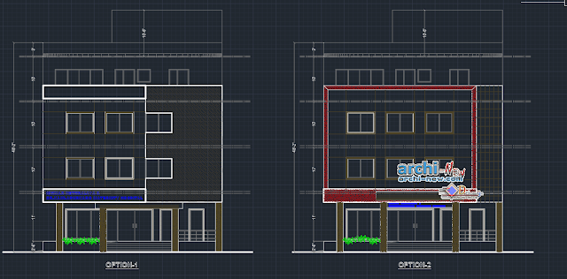 Worktops hospital and elevations in AutoCAD