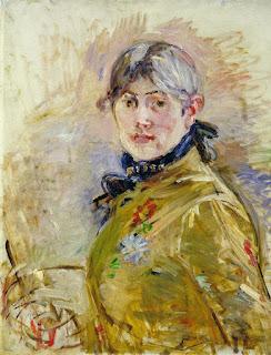 Autoportrait de Berthe Morisot (1841-1895). Musée Marmottan-Monet