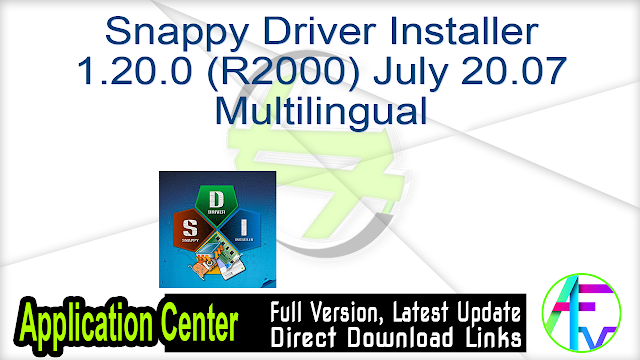 Snappy Driver Installer 1.20.0 (R2000) July 20.07 Multilingual