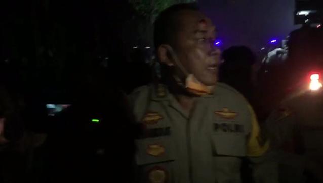 Demo Mahasiswa Tolak Omnibus Law Di Banten Rusuh, Satu Kombes Kena Timpuk Batu