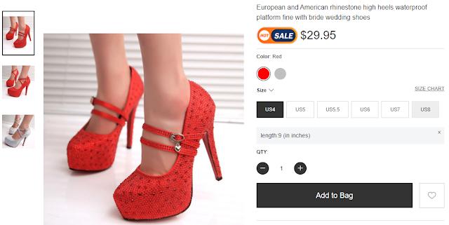 Berrylook European and American rhinestone high heels waterproof platform (RMNOnline.net)