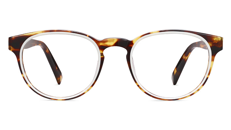 Warby Parker Percey Glasses in Root Beer with Ecru