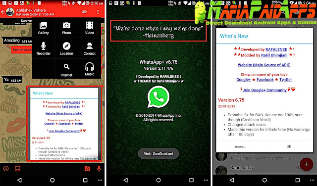 Download WhatsApp Plus (WhatsApp+) JiMODs Apk MafiaPaidApps