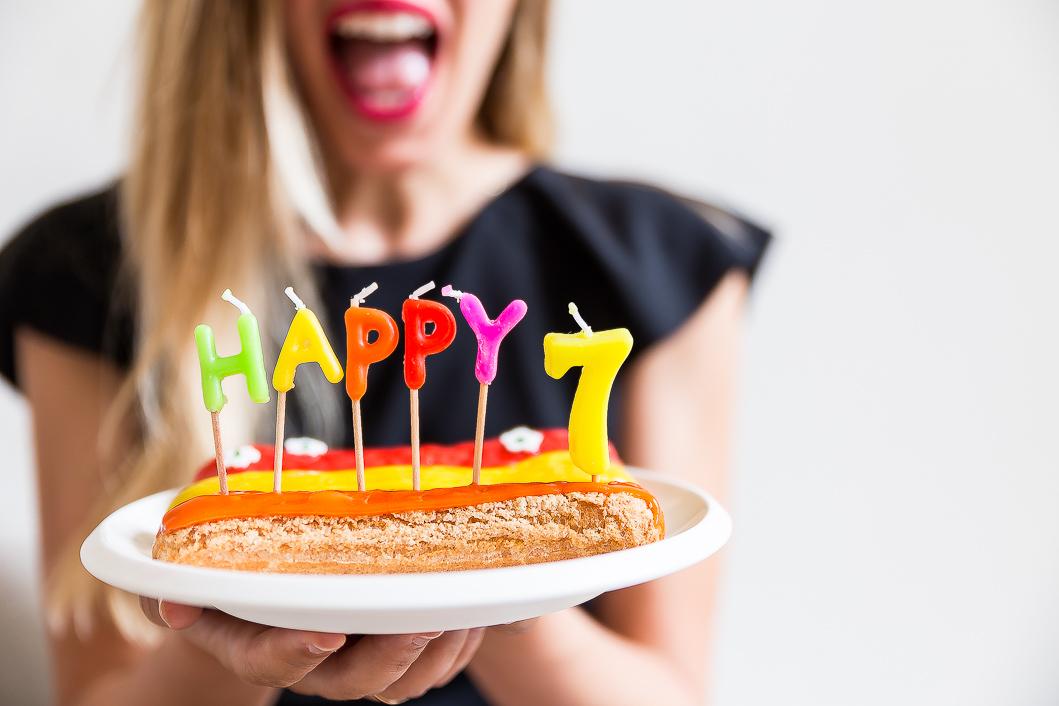 Bougies anniversaire gâteau
