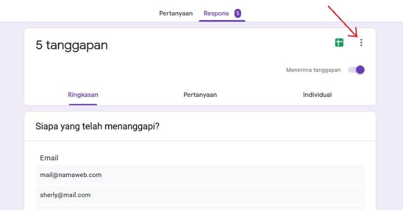 cara melihat hasil google forms di hp