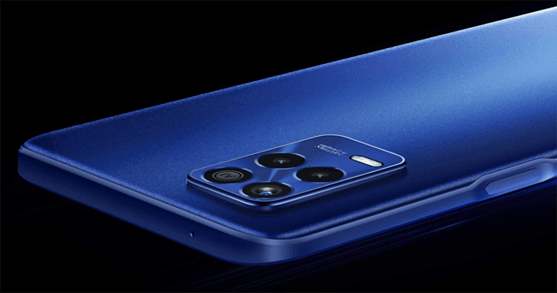 Sleek back design with the 64MP triple camera system