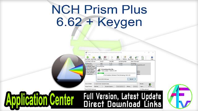 NCH Prism Plus 6.62 + Keygen