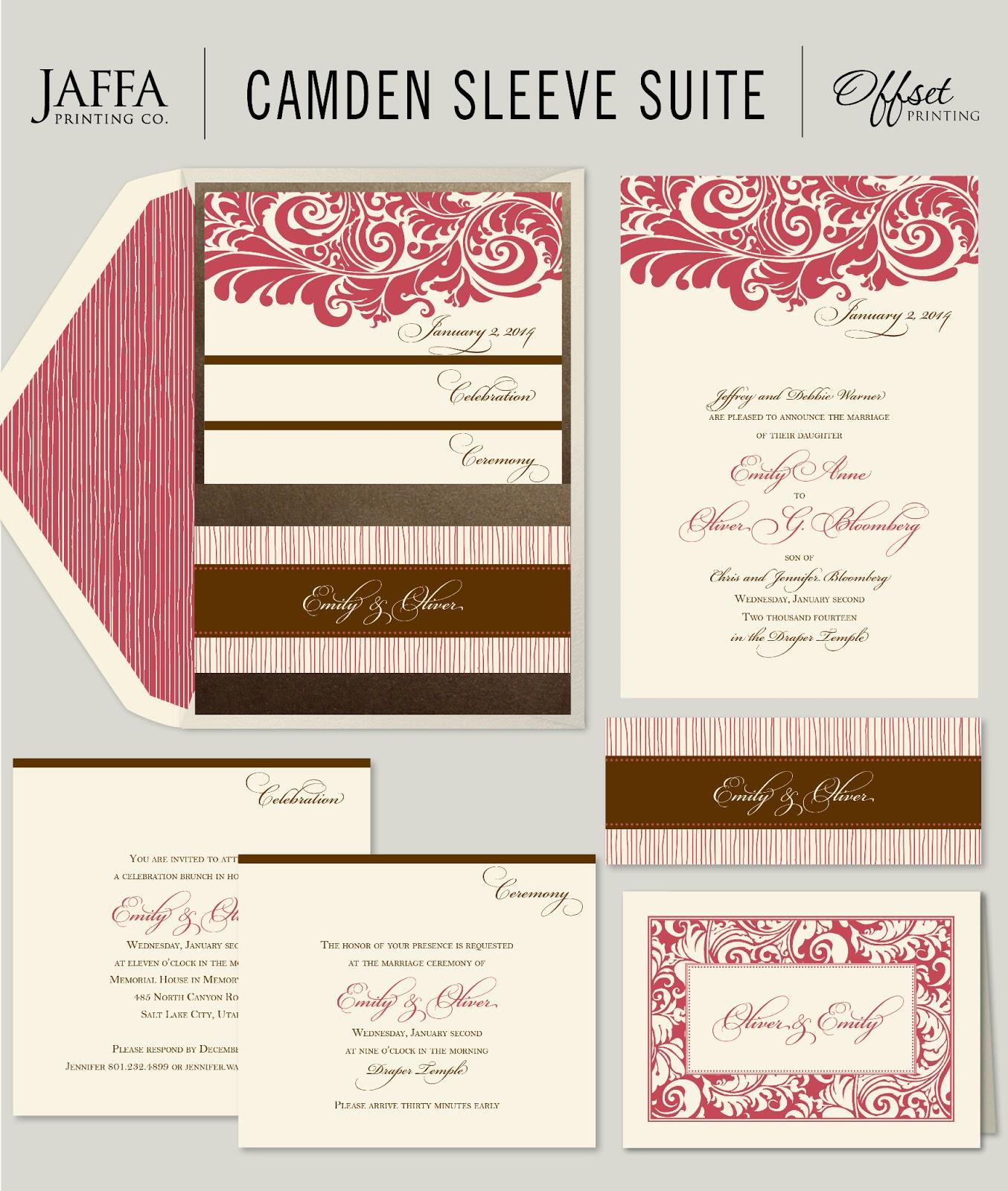 Wedding Invitation Blog: Gorgeous Pocket Wedding