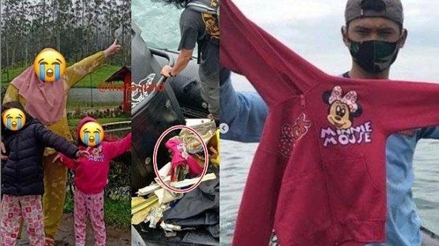 Sedih, Diduga Milik Yumna, Temuan Jaket Pink Milik Korban Jatuhnya Pesawat Sriwijaya Air SJ-182