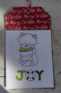 Joy by Gail features Newton Loves Coffee and Sea-sons Greetings (retired) by Newton's Nook Designs; #newtonsnook, #cardmaking, #christmas