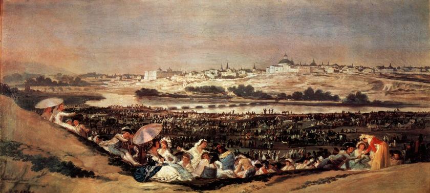 Escena festiva a orillas del Manzanares. Francisco de Goya. Óleo sobre lienzo, 1788
