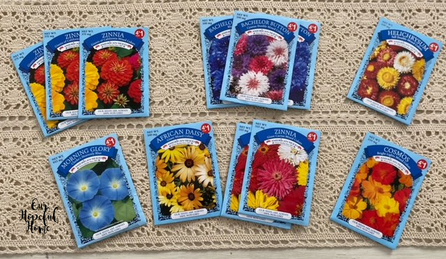Dollar Tree flower seed packets