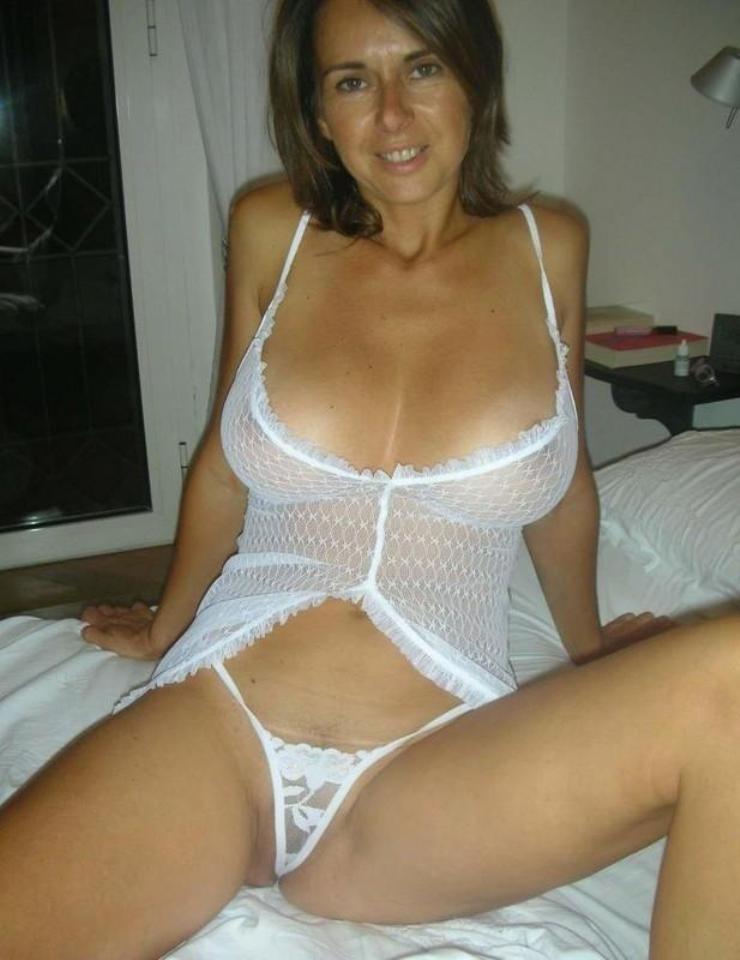 Hot mom in lingerie