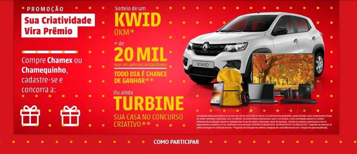 Promoção Chamequinho Sua Criatividade Vale Prêmio Carro 0KM e Prêmios