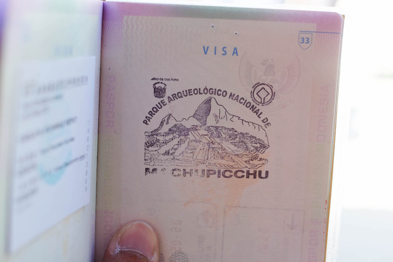 The Long Way to South America Machu Picchu Passport Stamp