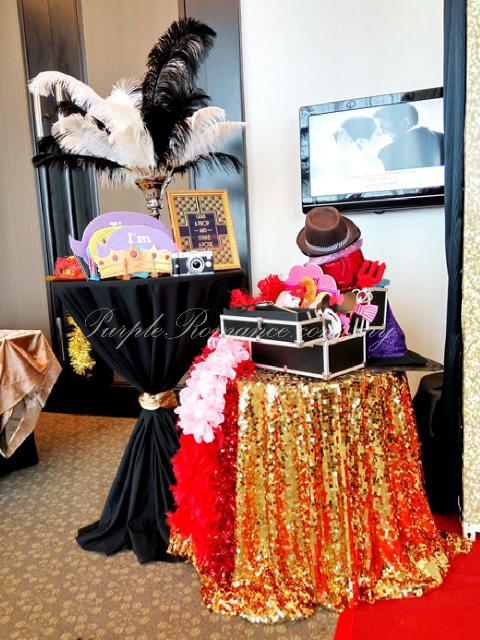 photo booth props, black box, black white feathers, grab a prop and strike a pose, gatsby wedding theme, decoration, decorator, vendor, malaysia, gold, cocktail table, hatten hotel melaka