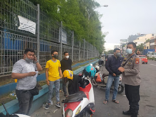 Melalui Binluh, Satbinmas Polres Pelabuhan Makassar Ajak Patuhi Penerapan Protokol Kesehatan