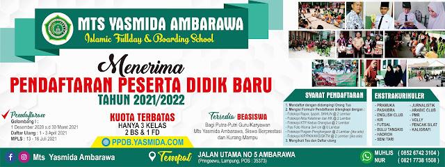 Download Desain Banner Spanduk PPDB MTs Yasmida Ambarawa