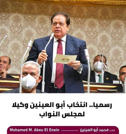 """""""رسميا ابوالعنين وكيلا لمجلس النواب المصرى""""."""