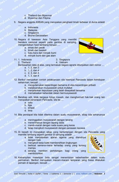 Soal Tematik Kelas 6 Tema 1 Subtema 2 Semester 1 Tahun 2021 Dunia Edukasi
