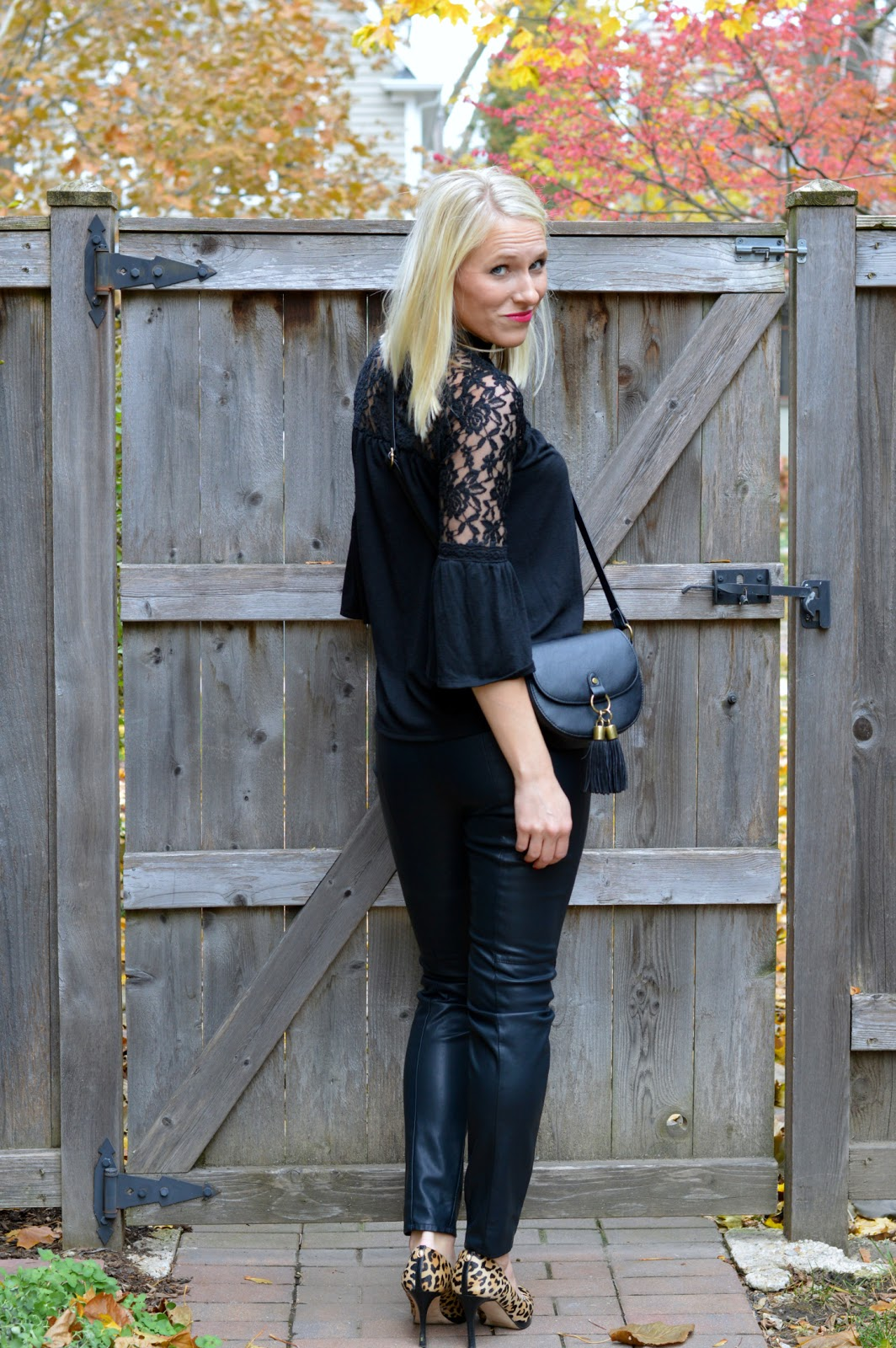 Versatile Clothing- lace top to wear with leather pants