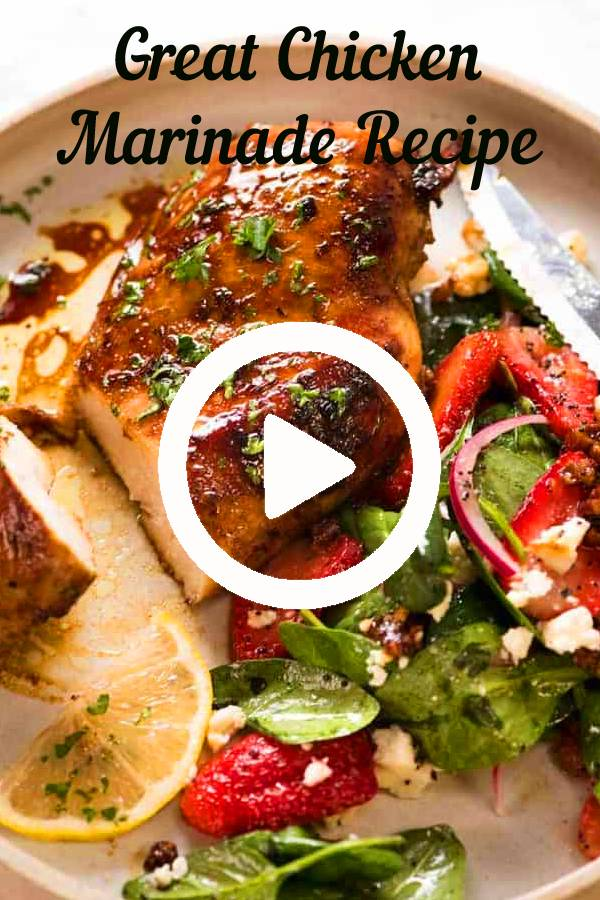Great Chicken Marinade Recipe | Cooked marinated chicken breast - great back pocket chicken marinade! #chicken #marinage #grilled #grilledchicken #chickenbreast