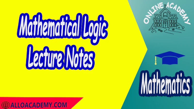Mathematical Logic - Lecture Notes PDF Logic and Set Theory Proof Sets Reasoning Mathantics Course Abstract Exercises whit solutions Exams whit solutions pdf mathantics maths course online education math problems math help math tutor be online academy study online online education online education programs online tech schools online study courses learning online good online schools finite math online classes for adults online distance learning online doctoral programs online master degree best online schools bachelor of early childhood education elementary education online distance learning universities distance learning colleges online education degree phd in education online early childhood education online i need a degree fast early childhood degree top online schools online doctoral programs in education educational leadership doctoral programs online distance learning bachelor degree bachelor's degree in early childhood education online technical schools bachelor of early childhood education online distance