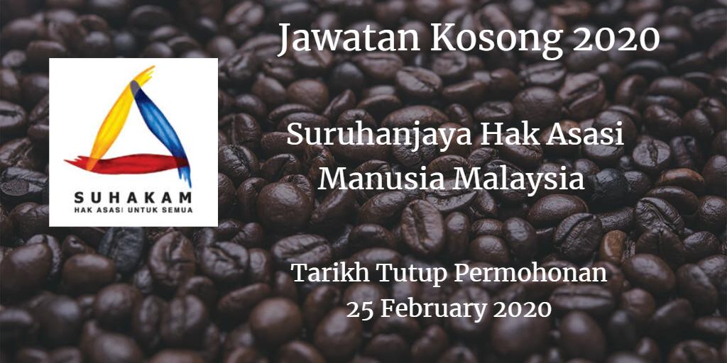 Jawatan Kosong SUHAKAM 25 February 2020