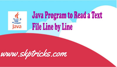 Java Program to Read a Text File Line by Line