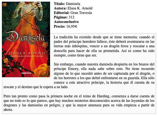 Reseña Damisela de Elana K. Arnold