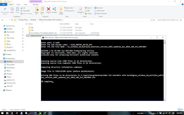 Batch] Hướng dẫn tạo file ISO bootable với công cụ Oscdimg của Microsoft