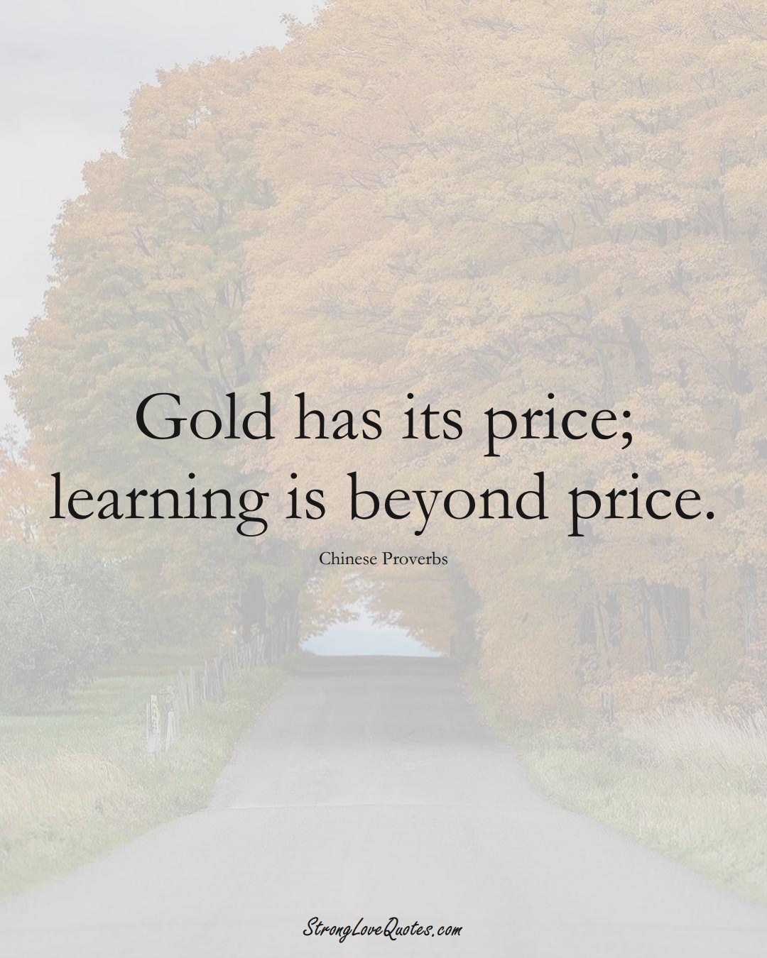 Gold has its price; learning is beyond price. (Chinese Sayings);  #AsianSayings