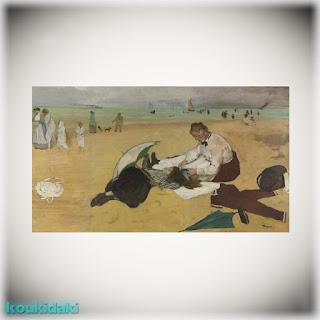 Πίνακας Edgar Degas  [Beach Scene]