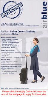 Female Cabin Crew Trainee Walk in Interviews Latest