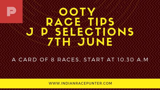 Ooty Race Tips 7th June