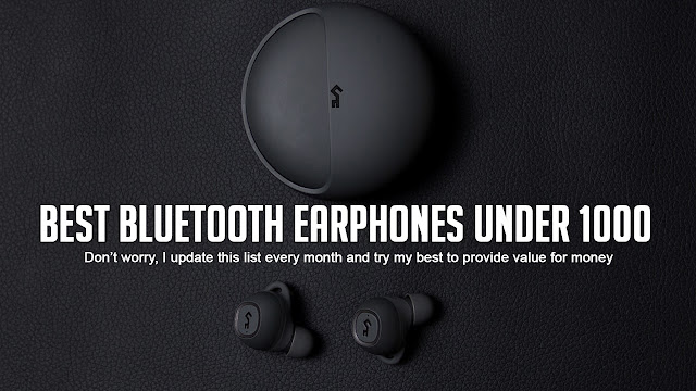 Top 10 Best Bluetooth Earphones under 1000 in India 2020