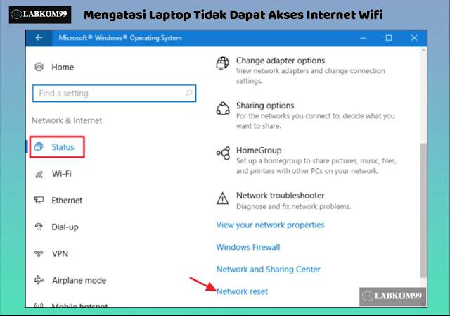 Mengatasi Laptop Tidak Dapat Akses Internet Wifi