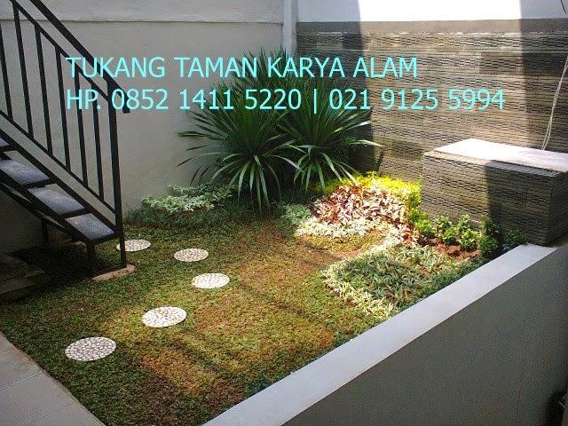 contoh taman minimalis di halaman belakang rumah