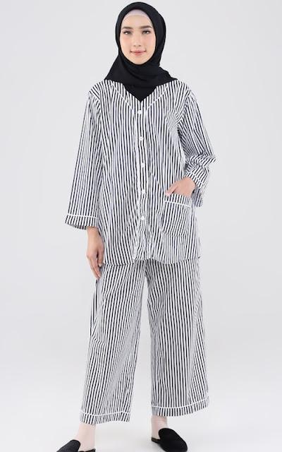 Line Motif Pajamas
