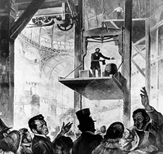Primeiro elevador do mundo de 1854