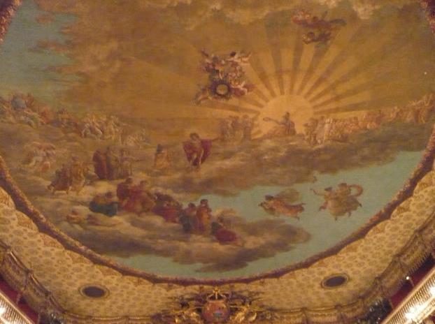 copertura del Teatro San Carlo Napoli
