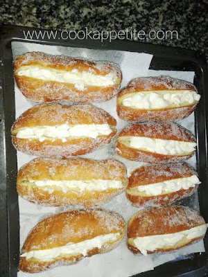 Cream doughnuts recipe
