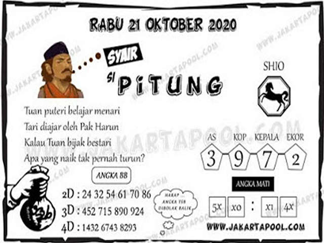 Kode syair Singapore Rabu 21 Oktober 2020 162
