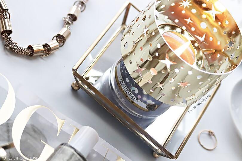 złoty klosz na małą świecę yankee candle